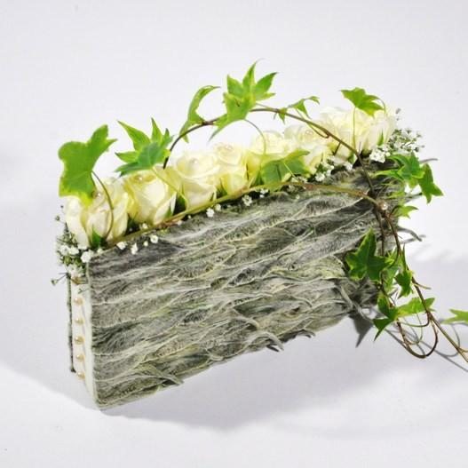 bouquet de mari e sac a main mat riel d 39 art floral et. Black Bedroom Furniture Sets. Home Design Ideas