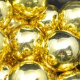 Perle métallique XXL 30 mm Or par 12 pièces