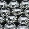 Perle métallique OASIS 14 mm coloris Argent par 35