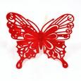 Papillon feutrine Rouge