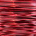 Fil alu déco métallique OASIS 1 mm coloris Rouge