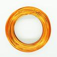 Fil alu déco métallique grand métrage coloris Cuivre Orange 1 mm