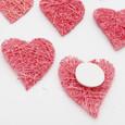 Sticker mini-cœur sisal Rose par 8 pièces