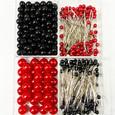 Kit matériel art floral Perle Epingle Rouge et noir