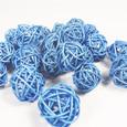 Boule Osier mini par 5 pièces coloris Bleu Roi