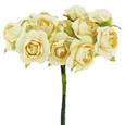 Bouquet de mini-rose par 12 pièces coloris Ivoire