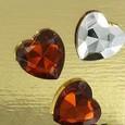 Mini coeur Diamant par 24 pièces coloris Chocolat-argent