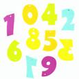 Chiffre en feutrine multicolore par 10