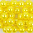 Perle OASIS 14 mm coloris Jaune par 35