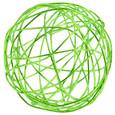 Boule 3 cm en fil de fer Vert Anis par 12 pièces