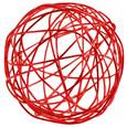 Boule 3 cm en fil de fer Rouge par 12 pièces