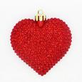 Set de 2 Coeurs Diamant coloris Rouge a suspendre.