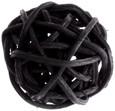 Petite boule osier par 12 pièces Noir