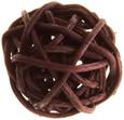 Petite boule osier par 12 pièces Chocolat