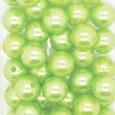 Perle 14 mm coloris Anis par 35