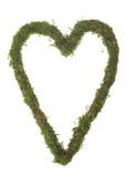 Coeur en mousse naturelle séchée.