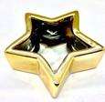 coupe photophore céramique métallisé étoile or