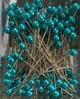 Epingle à tête coloris Turquoise par 144