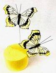 Papillons Jaunes sur Tige x 2