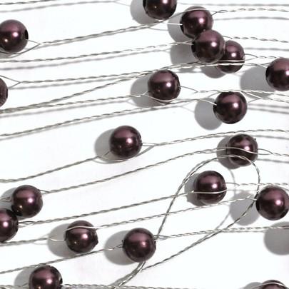 Perle sur fil OASIS Argent coloris Café
