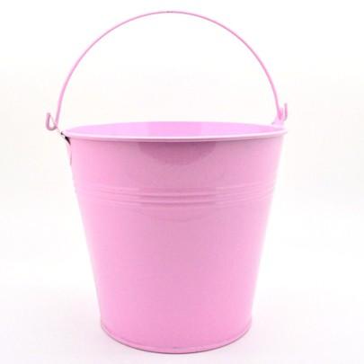 Seau zinc laqué GM couleur Rose