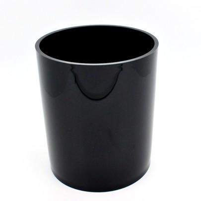 Vase tube Plexiglas cylindrique Noir Opaque 12 x 14 cm