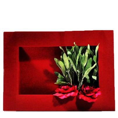 Cadre végétal à garnir coloris Rouge GM
