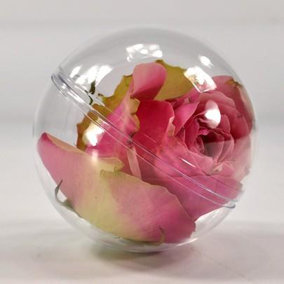 Boule à garnir Plexiglas 8 cm par 5 pièces