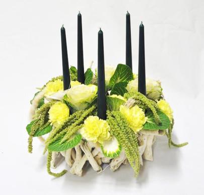 Bougeoir végétal