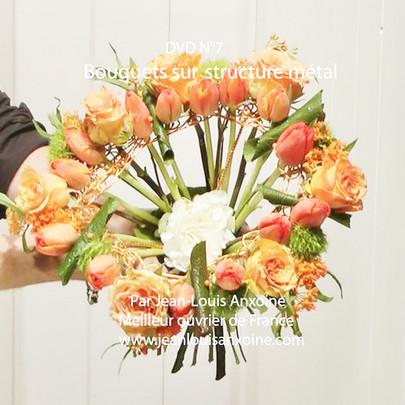 DVD cours d'art floral N°7 Bouquet sur structure métallique