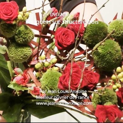 DVD cours d'art floral N°5 Bouquet sur structure bois