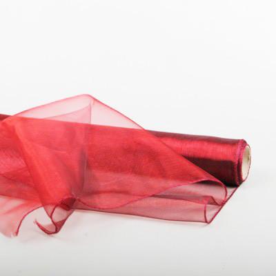 Tissus organza Large Rouge OASIS par métrage de 9 m