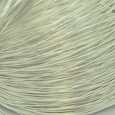 Fil alu déco métallique OASIS 1 mm coloris Perle par 10 m