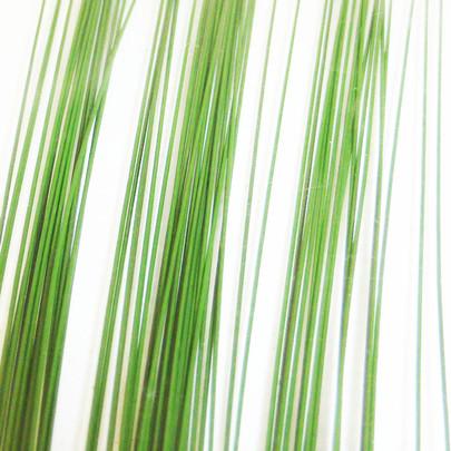 Fil de fer laqué vert petit montage par 60 pièces
