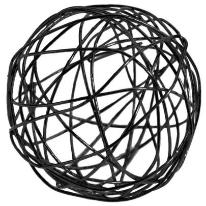 Boule 3 cm en fil de fer Noire par 10 pièces