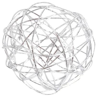 Boule 3 cm en fil de fer Argent par 12 pièces