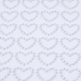 Sticker cœur en strass par 12 pièces