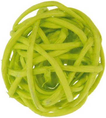 Petite boule osier par 12 pièces Vert anis