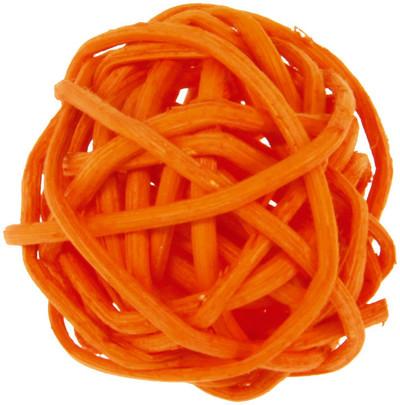 Petite boule osier par 12 pièces Orange