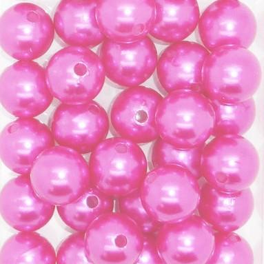 Perle OASIS 14 mm coloris Fuchsia par 35