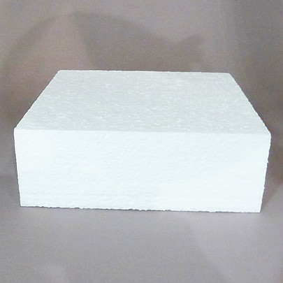 Tarte carrée polystyrène 20 cm
