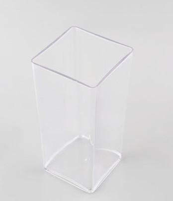 Vase cube Plexiglas Cristal haut 25 cm