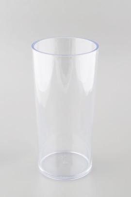 Vase tube Plexiglas Cristal haut 25 cm