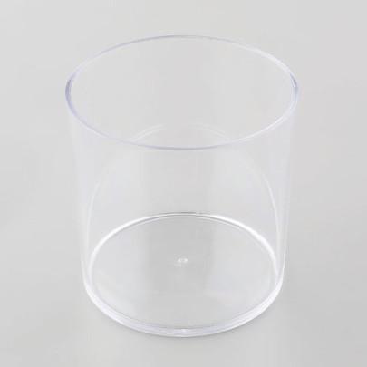 Vase tube Plexiglas Cristal haut 15 cm