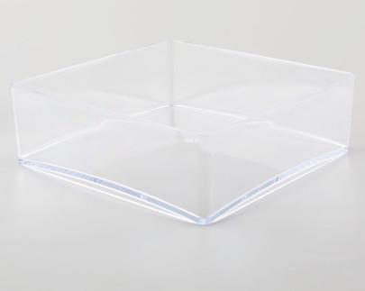 Coupe carrée Plexiglas Cristal 20 x 20 cm