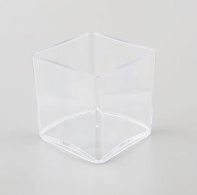 Vase carré Plexiglas Cristal 10 x 10 x 10 cm