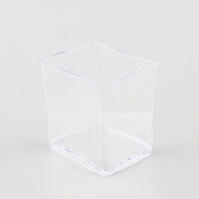 Vase rectangle Plexiglas Cristal haut 10 cm