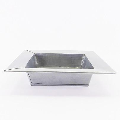 Coupe carrée zinc naturel rebord