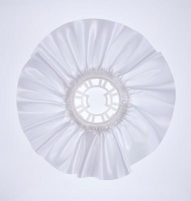 Collerette bouquet de mariée satin Blanc