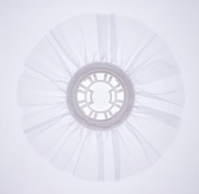 Collerette bouquet de mariée tulle blanc